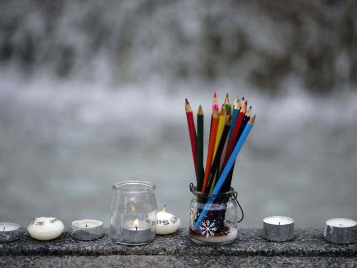 Charlie Hebdo Vigil. Image: Reuters