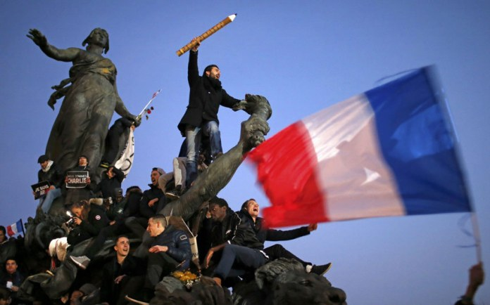 Paris, Charlie Hebdo Demonstration. Image by Stephane Mahe, REUTERS
